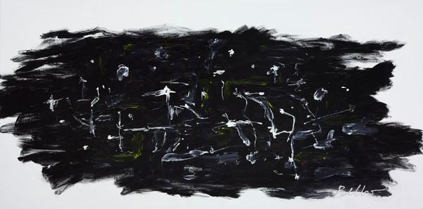 night, monochromatic, landscape, abstract
