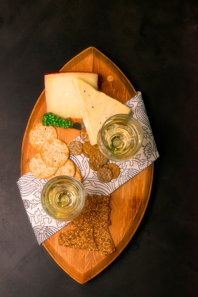 White Wine & Cheese Top Down (171767FBND8RM) Photograph for Sale as Commercial Product or Digital Licensing