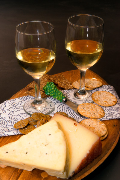 White Wine & Cheese & Crackers (171768FBND8RM) Photograph for Sale as Commercial Product or Digital Licensing