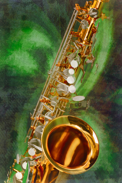Saxophone Painting Canvas Prints 3253.02