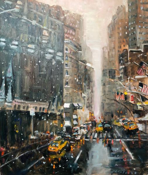 First Snowfall in Manhattan