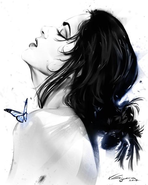 Butterfly Effect - Fine Art by Vahe Grigorian Los Angeles Artist - Digital Prints available for Paper, Canvas, Metal and more.custom art, digital portrait, portraits , art for sale