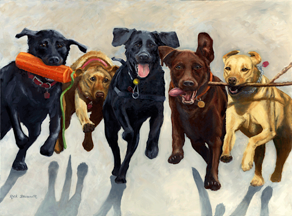Fetch print by Rick Brawner.