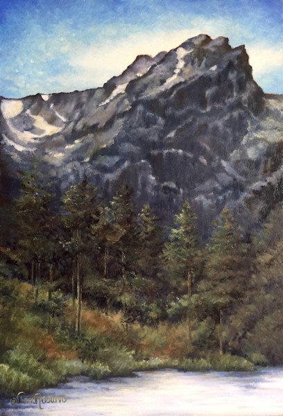 Hallet Peak is an original oil painting by Teri Rosario.