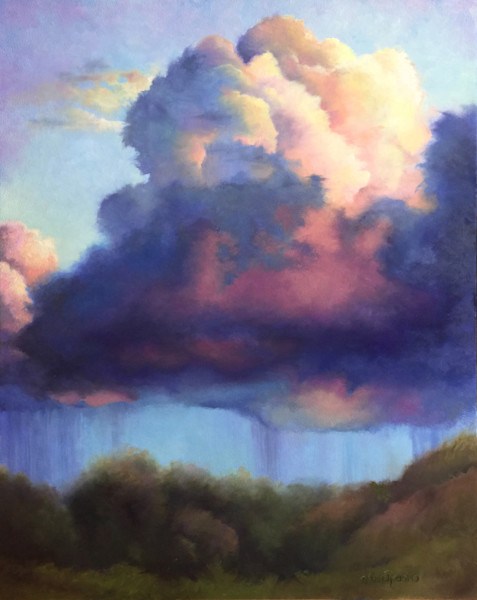Stormy Weather is an original landscape painting by Teri Rosario.