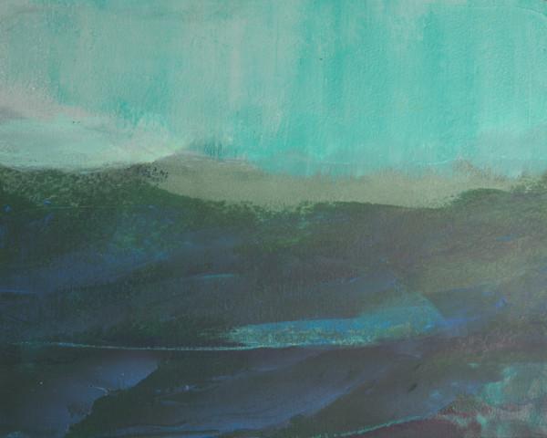 Coming Ashore cold wax painting
