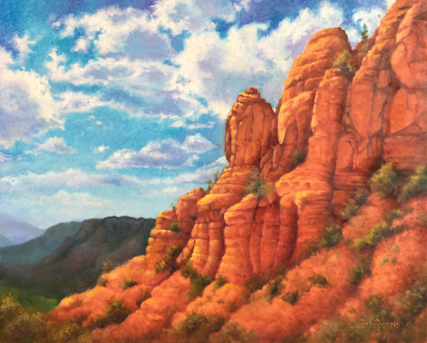 Red Rocks is an original oil painting by Teri Rosario.