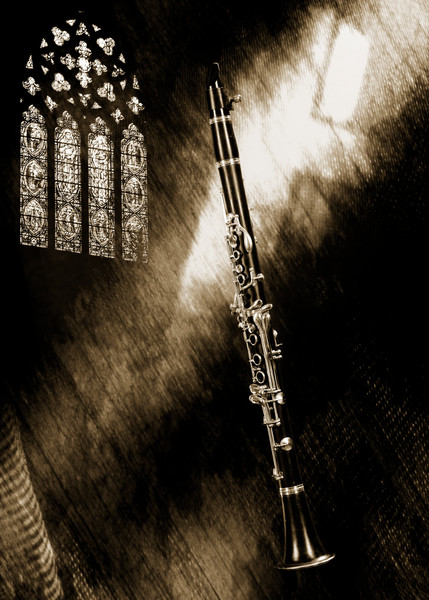 Clarinet Music Instrument in Church 3523.01