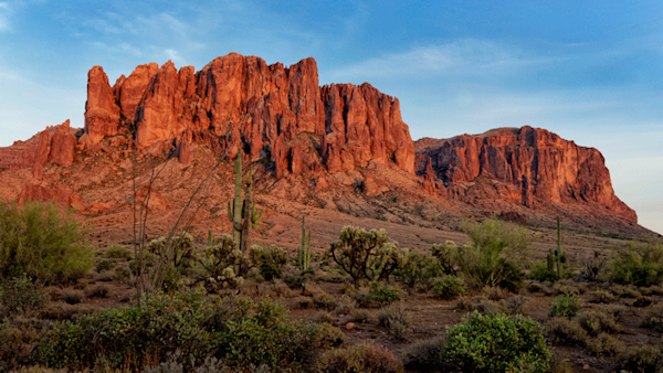 Superstition Mountains photo print by Fred Neveu.