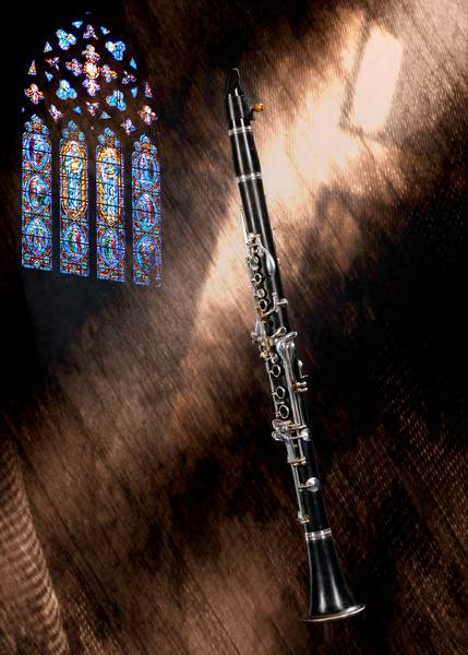 Clarinet Music Instrument in Church Wall Art 3523.02