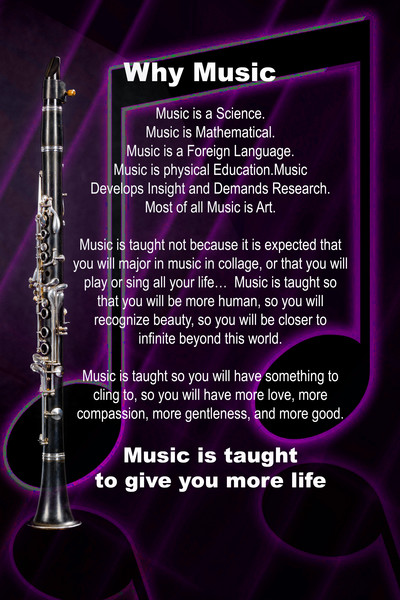 Clarinet Why Music Wall Art 4817.02