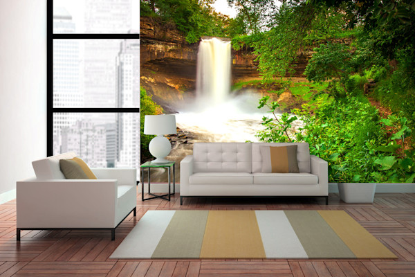 Minnehaha Falls - Minneapolis Wall Murals | William Drew Photography
