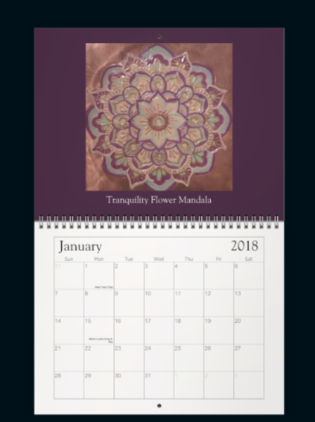 Meditation Mandala Calendar 2018