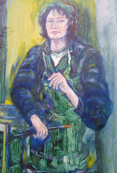 Self Portrait Painting by Elizabeth Van Vliet