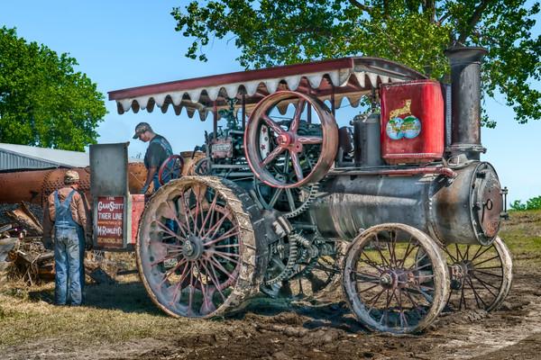 Gaar Scott Restored Steam Powered Farm Tractor fleblanc