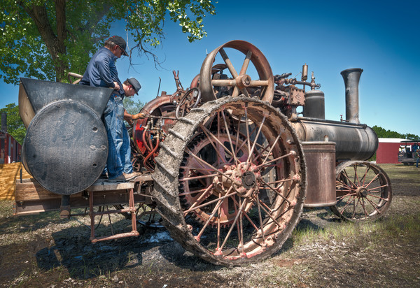 Reeves Steam Powered Restored Old Threshing Tractor fleblanc
