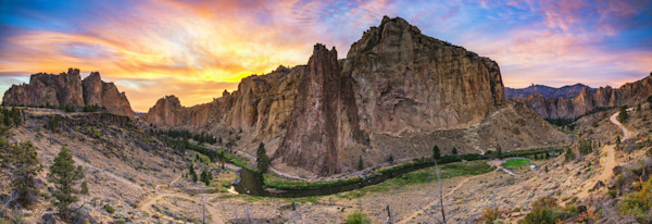 Smith Rock Summer Sunset (161523LNND8) Photograph for Sale as Fine Art Print