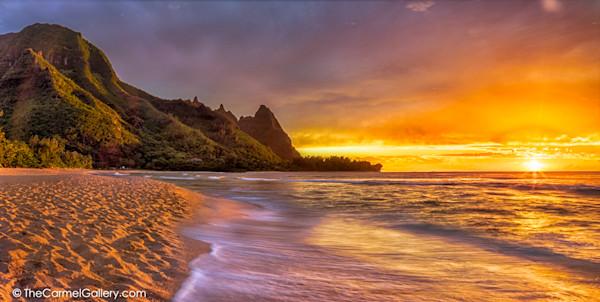 Sunset Photo of Tunnels Beach