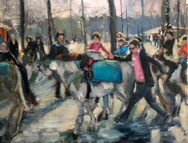 Horse Ride in Paris Park