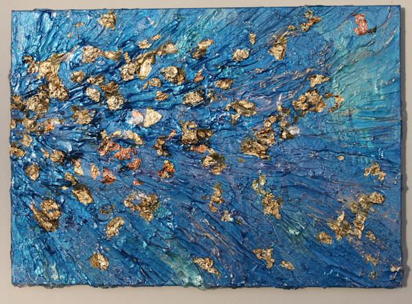 "Golden Breeze Acrylic Painting 5"" x 7"""