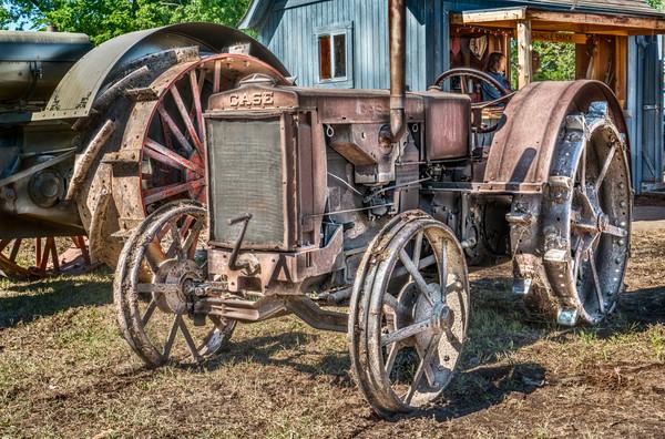 JL Case Gas Vintage Restored Antique Farm Tractor fleblanc