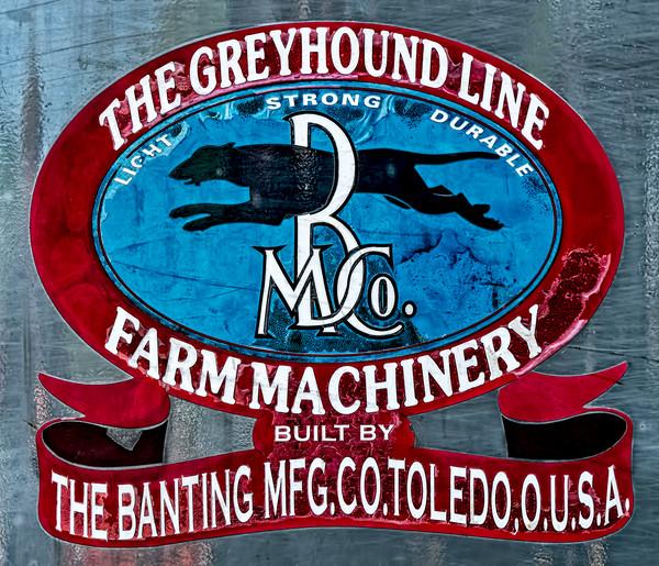 Greyhound Steam Tractor Banting Sign Logo Emblem fleblanc
