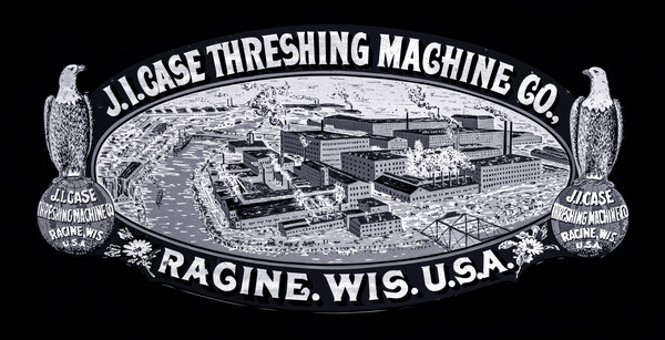 JL Case Threshing Machine Logo Emblem Decal fleblanc