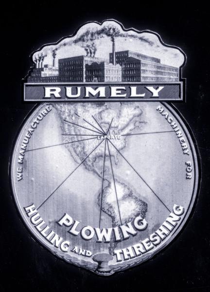 Rumley Plowing Threshing World Logo Emblem  fleblanc