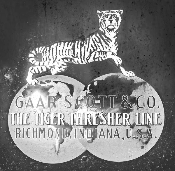 Gaar Scott Tiger Line Antique Advertising Sign Logo fleblanc
