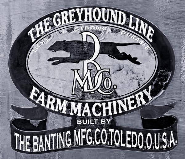 Greyhound Steam Tractor Banting Threshing Emblem fleblanc