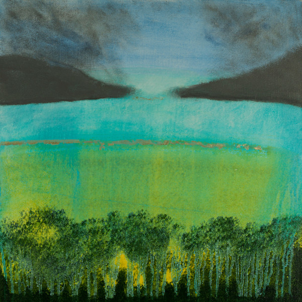 Peace Offering original abstract waterscape painting by Jana Kappeler.