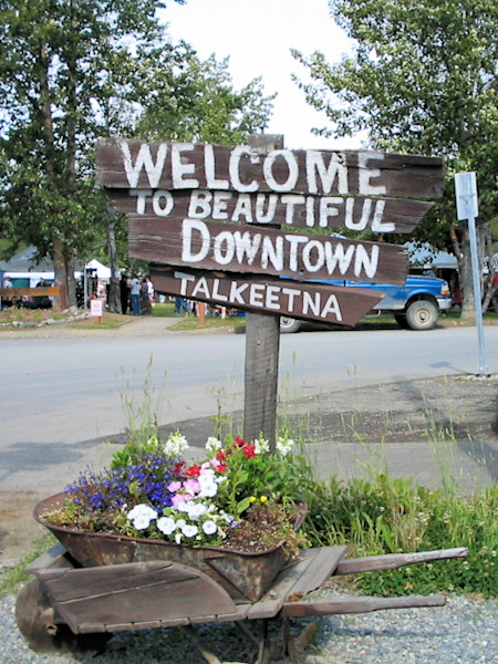 Welcome To Talkeetna Photograph Art For Sale