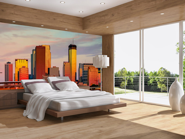 Cityscape - Minneapolis Wall Murals | William Drew