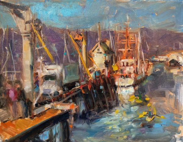 Santa Barbara Harbor Original Oil Painting