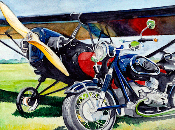 Heath and BMW fine art print by Emily Willey.
