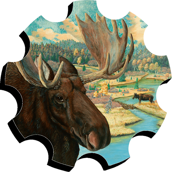 Moose Junction print form cut out by Sue Zabel.