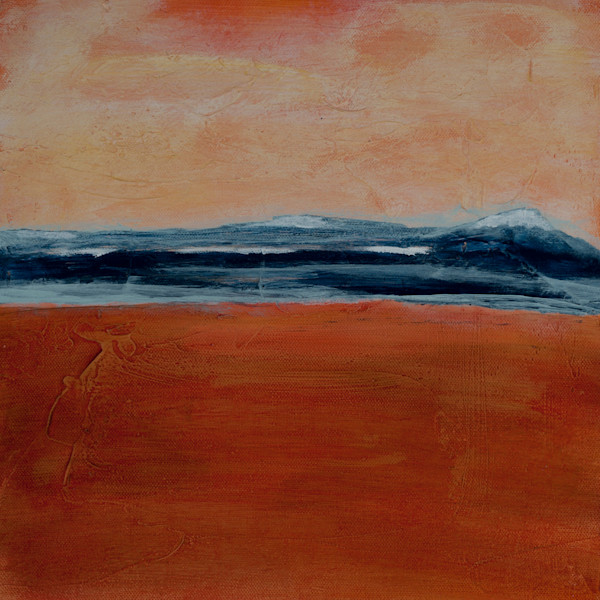 The Distance is a contemporary abstract landscape painting by Jana Kappeler.