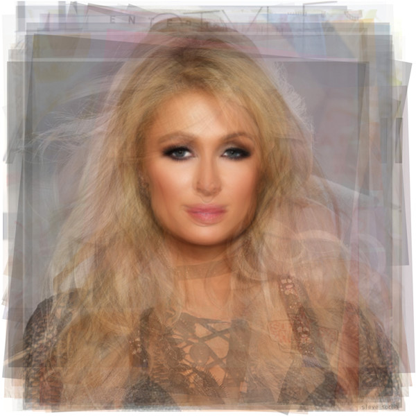 Overlay art – contemporary art prints of celebrity Paris Hilton