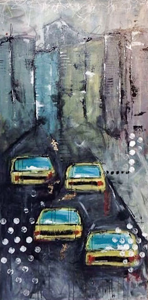 Souvenirs de NYC by Annie Rodrigue | SavvyArt Market original painting