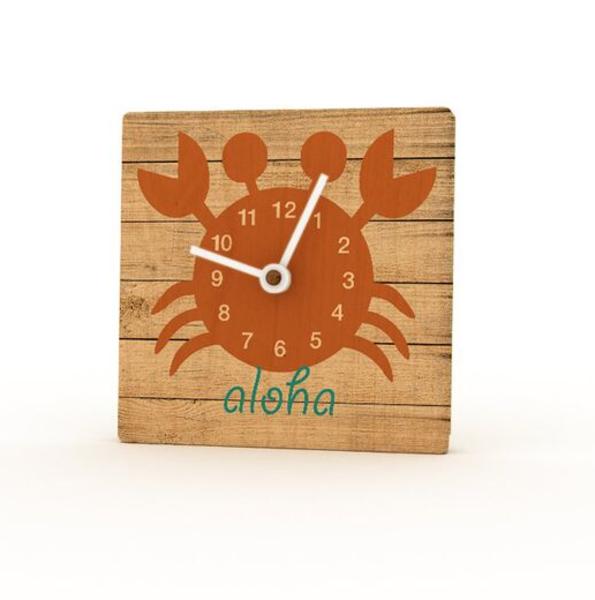 Birchwood Mini Clocks | Orange Crab