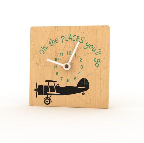 Birchwood Mini Clocks | Airplane