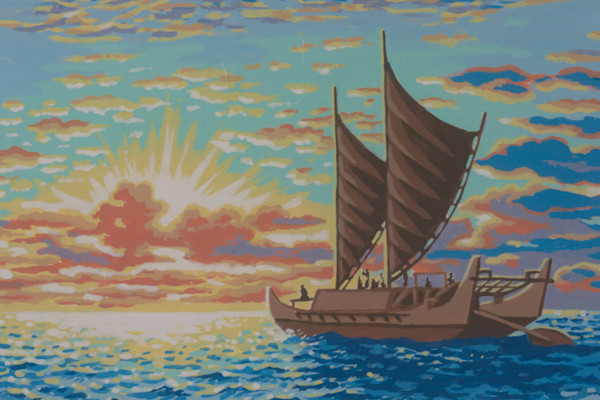 Hokulea Sunset postcard