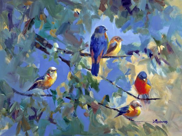 Five Birds | Southwest Art Painting | Madaras Gallery Tucson