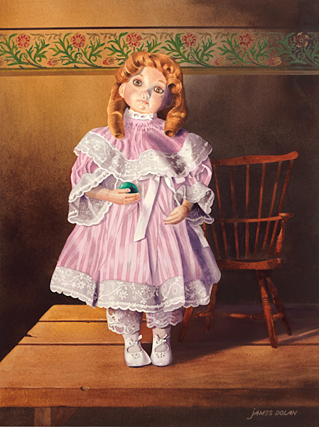 Joanie's Doll fine art print by Jim Dolan.