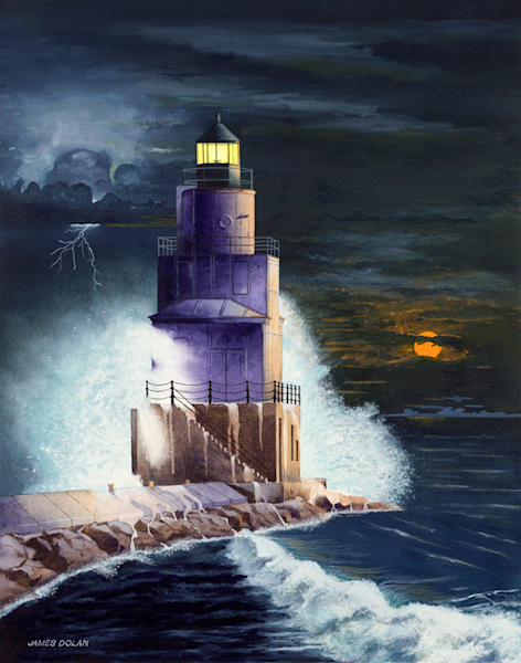 Lighthouse fine art print by Jim Dolan.