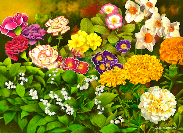 Garden Flowers fine art print by Jim Dolan.