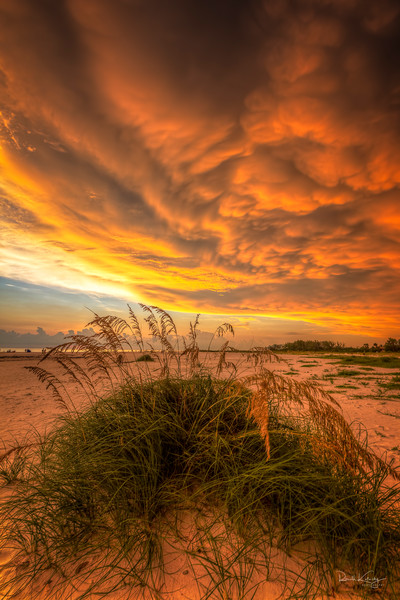 Fire at Lido Key Photographic Art