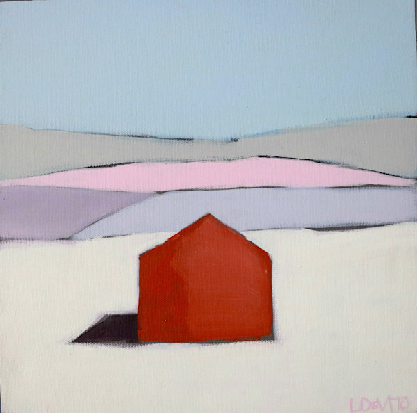 NEW!!! BARN IN WINTER 12 x 12