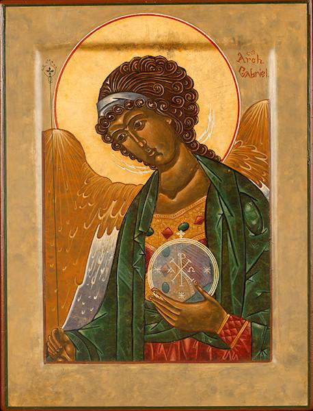 Archangel Gabriel fine art print by Katherine de Shazer.