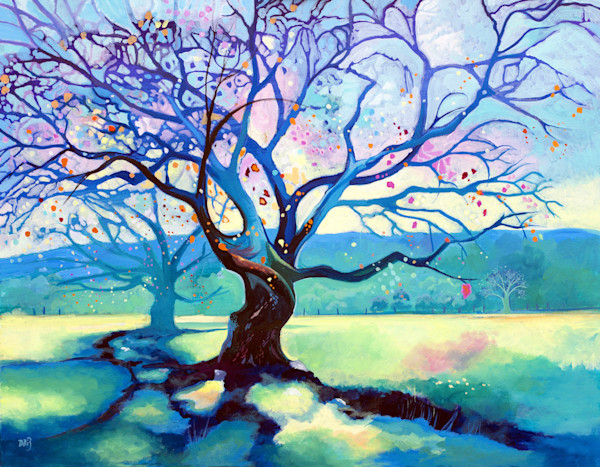 Colourful Painting Of Trees